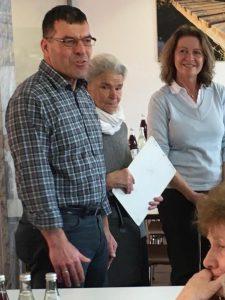 Die Begrüßung der Gäste dur den Leiter der Oberlandwerkstätte Herrn xxx und der Vorsitzenden der NBH Frau Buchner